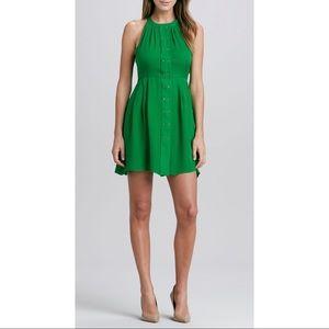 Parker Silk 'Nicole' Green Mini Studded Dress